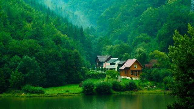 绿色山林景致图片