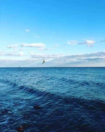 蓝色唯美海洋图片