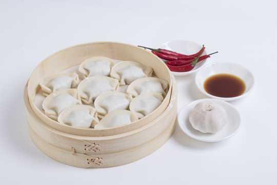 中式糕点饺子图片