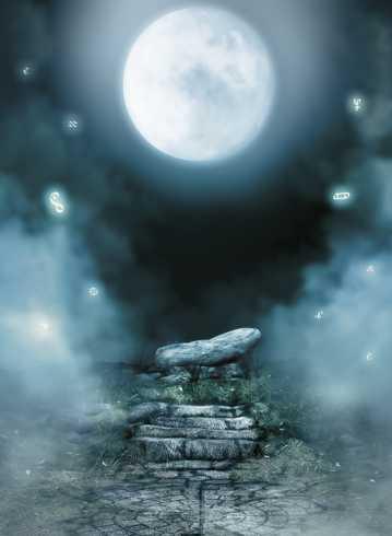 浪漫圆月夜图片