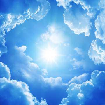 太阳云层天空图片