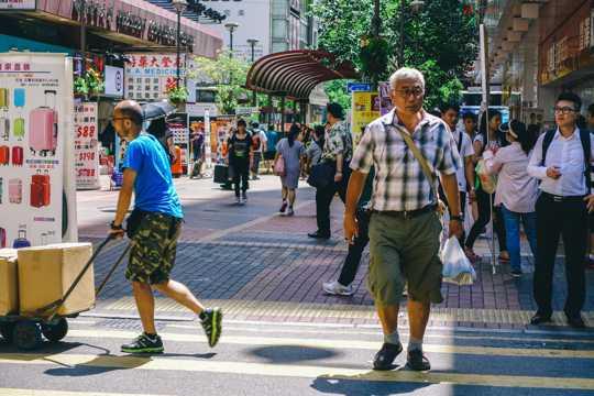 香港旺角街景图片
