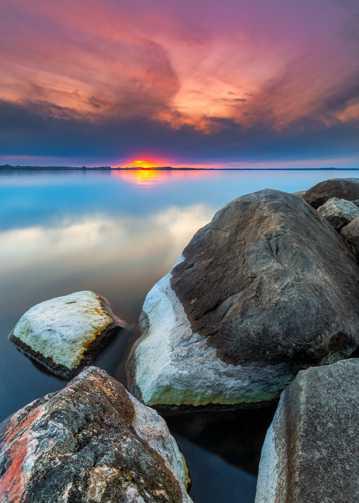 朝阳景致唯美境界图片