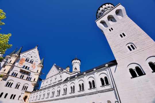德国新天鹅堡光景高清图片