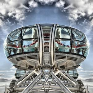 伦敦, 眼睛, 英格兰, 英国, 城市, 河, 泰晤士河