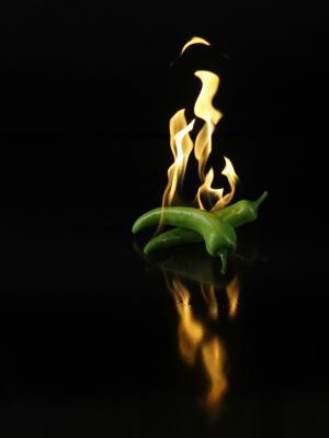 辣椒, 辣椒, 消防, 食品, 绿色, 热, 蔬菜