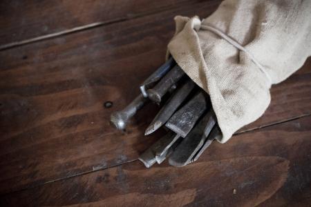 铁, 木材, 织物, 手艺, 工艺品, 乡村, 棕色