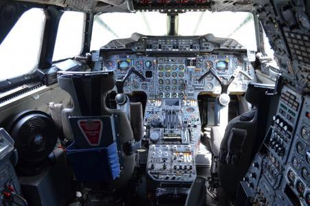 控制面板, 小木屋, 里面, 协和, 驾驶舱, 飞机, 飞行员