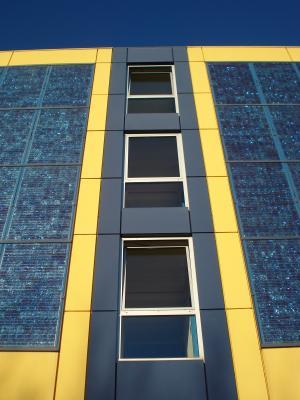 立面, 太阳能电池板, 太阳能, 建设, 太阳能, 洛桑, 瑞士