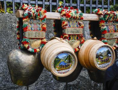 阿彭策尔, 瑞士, 在传统的, 奶酪模具, 母牛响铃, 文化