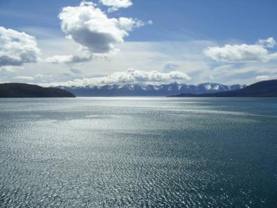 云彩, 水, 蓝蓝的天空, 光, mar, 无限, 天空