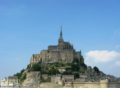 诺曼底, 法国, 圣米歇尔, 城堡, 著名的地方, 建筑, 堡