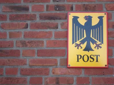 盾牌, 发布, 德意志 bundespost, 联邦老鹰, 权威, 官场, 私有化