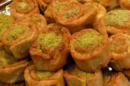 阿拉伯糖果, 科克斯巴扎尔, 摩洛哥食品, 突尼斯食品, 民族餐厅, 开心果甜点, 马