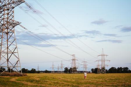 电线杆, 电力, 电源, 能源, 电缆, 线, 传输