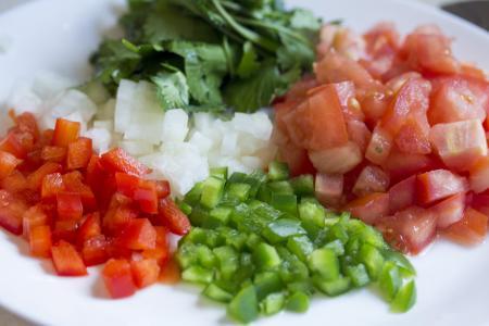开胃菜, 青椒, 香菜, 多彩, 色彩缤纷, 烹饪, 美味