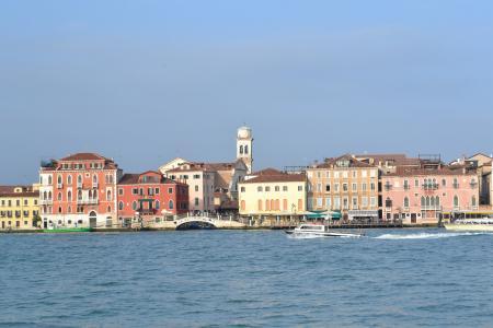 威尼斯, 意大利, 海, 房屋, 码头