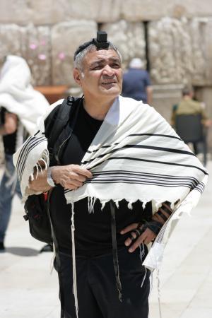 老, 男子, tallit, 希伯来语, 犹太人, 哭墙, 耶路撒冷