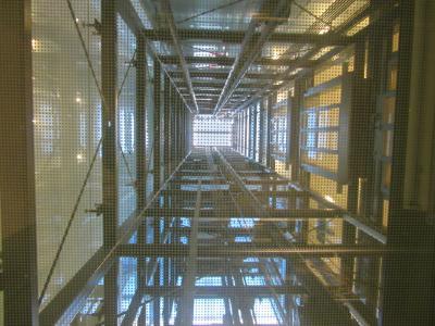 电梯, 轴, 电梯, 钢梁, 光, 观点, 室内