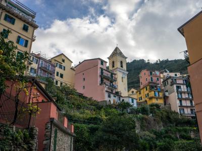 意大利, 五渔村, 地中海, 欧洲, 海岸, 旅游, 意大利语