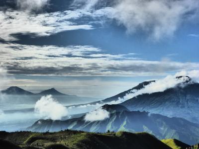 印度尼西亚, 山, 自然, 景观, 旅行, 亚洲, 自然