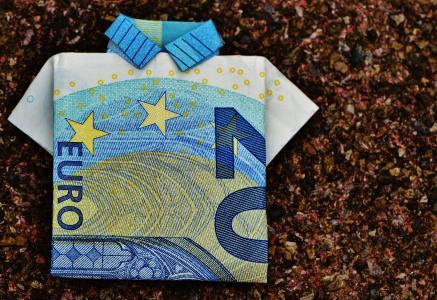 最后一件衬衫, 美元的钞票, 20 欧元, 折叠, 礼物, 钱, 货币
