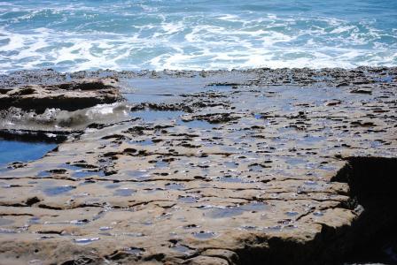 海岸, 加利福尼亚州, 圣地亚哥, 拉霍亚, 自然, 海洋, 水