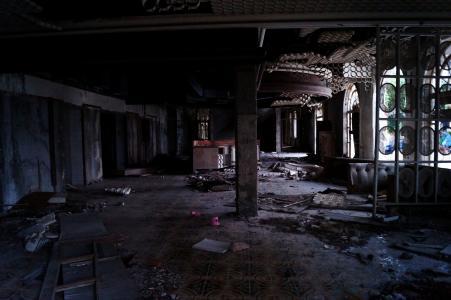 kupari, 杜布罗夫尼克, 克罗地亚, 酒店, 被遗弃, 摧毁了, 这场战争