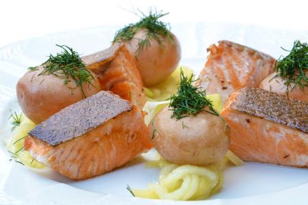 三文鱼, 食品, 南瓜, 美食, 顿饭, 晚餐, 板