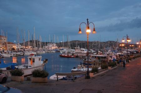 端口, 小船, 海, 蓝色, 启动, 撒丁岛