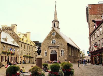 加拿大, 魁北克省, 旧城, 教会, 老教会, 历史, 老建筑