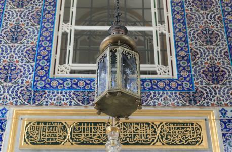 土耳其, 伊斯坦堡, eyup, 清真寺, 光, 灯, 灯笼