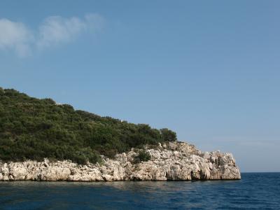 海, 岛屿, 景观, 波, 土耳其, 海景, 旅程