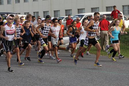 triathalon 种族, 马拉松, 运行, 赛跑者, 运行, 5 k 奔跑, 开始