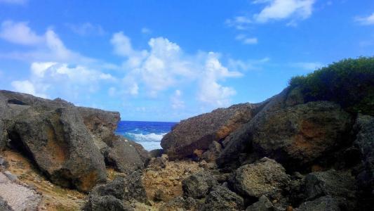 海岸, 岩石, 海, 天空, 云彩, 海洋, 视图