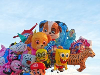 公平, 气球, 天空, 儿童角色, 乐趣, 动物, 文化