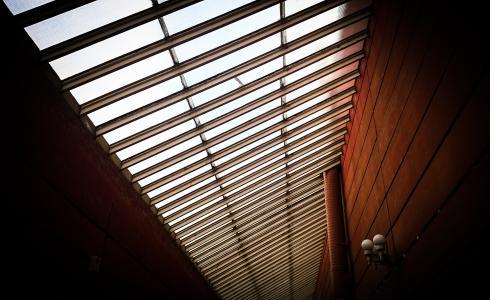 走廊, 摘要, 灯, 艺术, 背景, 几何, 棕色