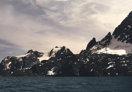 海岸, 海岸, 悬崖, 岩石, cragy, 山脉, 虚张声势