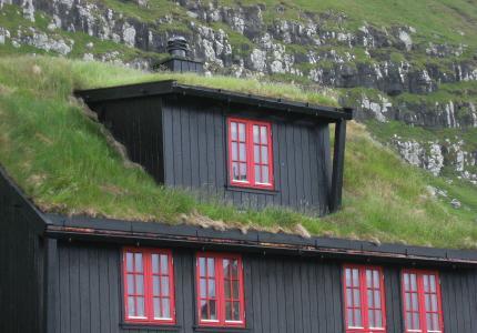 法罗群岛, 草屋顶, 木屋