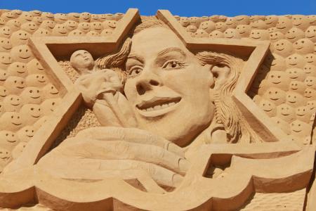 沙子, 雕塑, 图稿, 节日, 沙雕, 艺术, 沙子雕塑