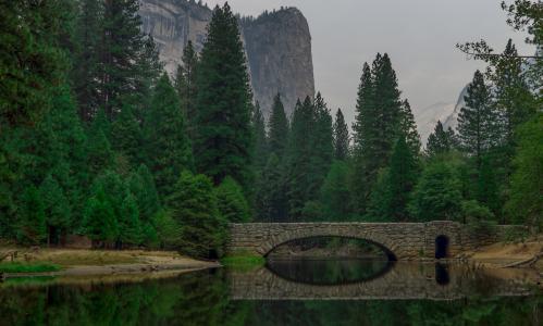 桥梁, 水, 反思, 河, 池塘, 湖, 平静