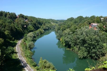 克罗地亚, 旅行, 河, 铁路
