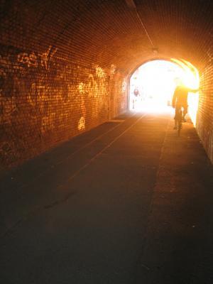 隧道, 光, 柏林, 地下, 自行车, 跳马