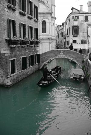 威尼斯, 通道, 吊船, 桥梁, 启动, 家园, 水道
