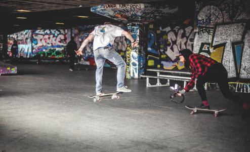 滑板, 滑板, 涂鸦, 涂鸦墙, 拍摄, 录音, 视频拍摄