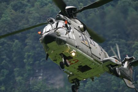 飞机, 直升机, hubchrauber, 超级美洲狮, 狮, 运输直升机, 告别