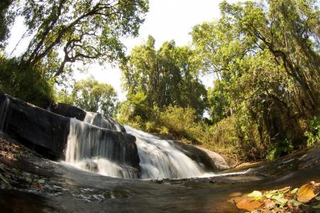 马拉维, 自然, 外面, 景观, 瀑布, 瀑布, 流