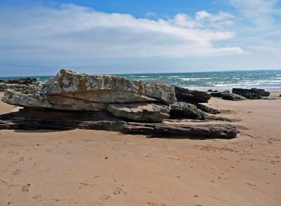 岩石, 海岸, 苏格兰, 水, 德林, 海, 海滩