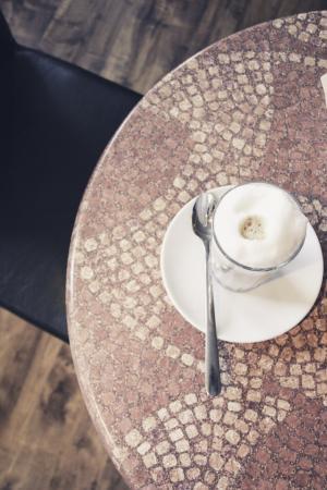 咖啡, 拿铁玛奇朵, 咖啡厅, 牛奶咖啡, 木条, milchschaum, 牛奶咖啡