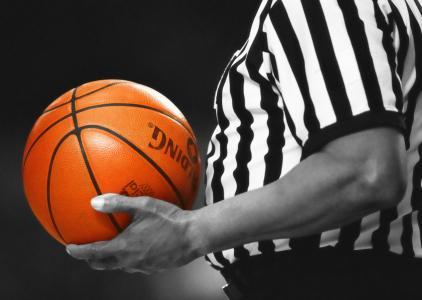 篮球, 裁判, 游戏, 橙色, 球, 体育, 团队